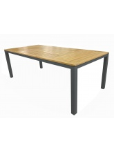 Table Tempo 180 grise plateau Teck