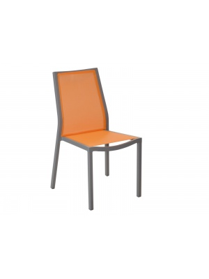 Chaise Ida Café / Paprika empilable