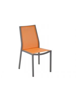 Chaise Ida Café / Paprika empilable