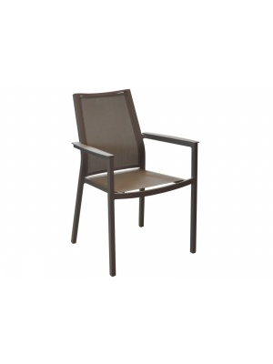 Fauteuil Ida Taupe empilable