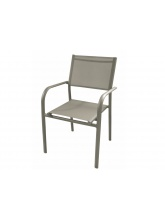 Fauteuil Duca Taupe empilable