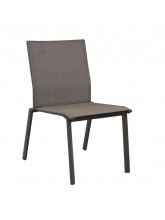 Chaise Palma empilable Café / Taupe mat