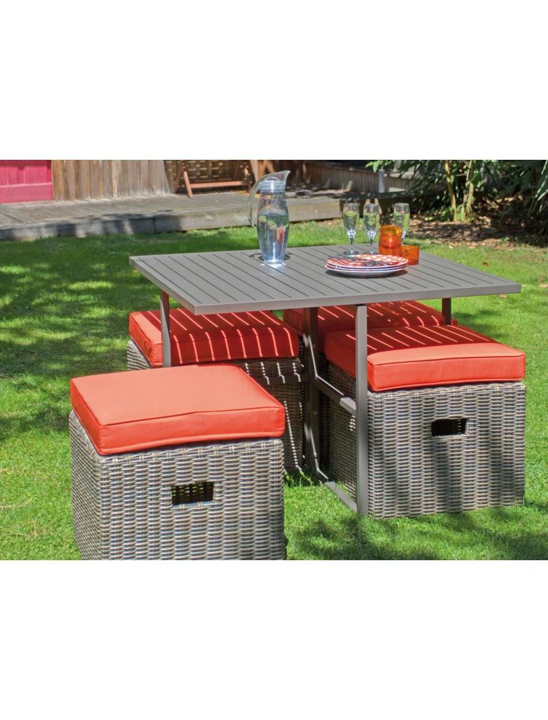 salon de jardin cubio caf paprika proloisirs salon de jardin haut complet jardin concept. Black Bedroom Furniture Sets. Home Design Ideas