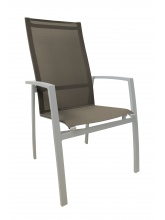 Fauteuil Fusion Gris clair / Taupe