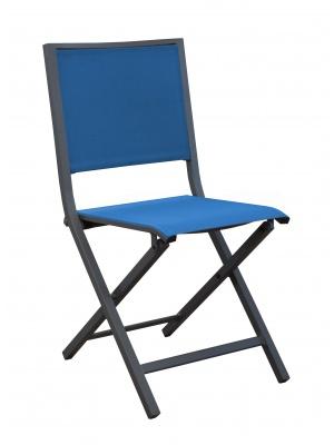 Chaise IDA pliante Grise / Bleu