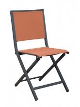 Chaise IDA pliante Grise / Paprika