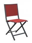Chaise IDA pliante Grise / Rouge