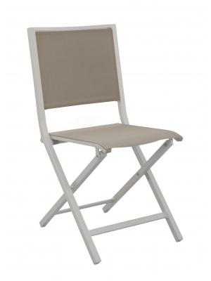 Chaise IDA pliante Gris clair / Taupe