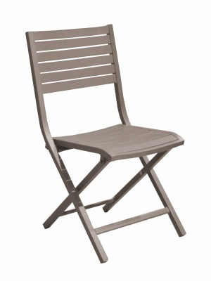 Chaise pliante Lucca Taupe