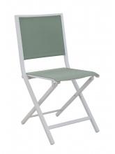 Chaise IDA pliante Blanc / Amande