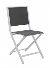 Chaise IDA pliante Blanc / Graphite