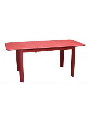 Table de jardin Eos 130/180 Rouge avec allonge