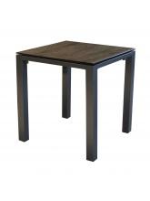 Table Stoneo 90 plateau TRESPA® Gris Brun