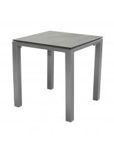 Table Stoneo 90 plateau TRESPA® Taupe Bois