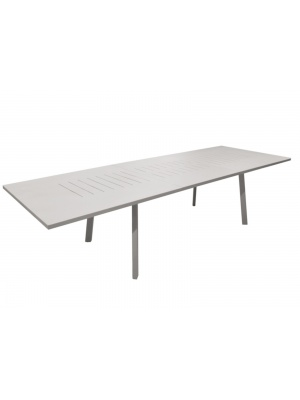 Table Barcelona 180/240 taupe avec allonge