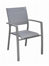 Fauteuil Games empilable Taupe / Taupe
