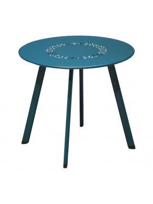 Table basse Massaï 45 Bleue