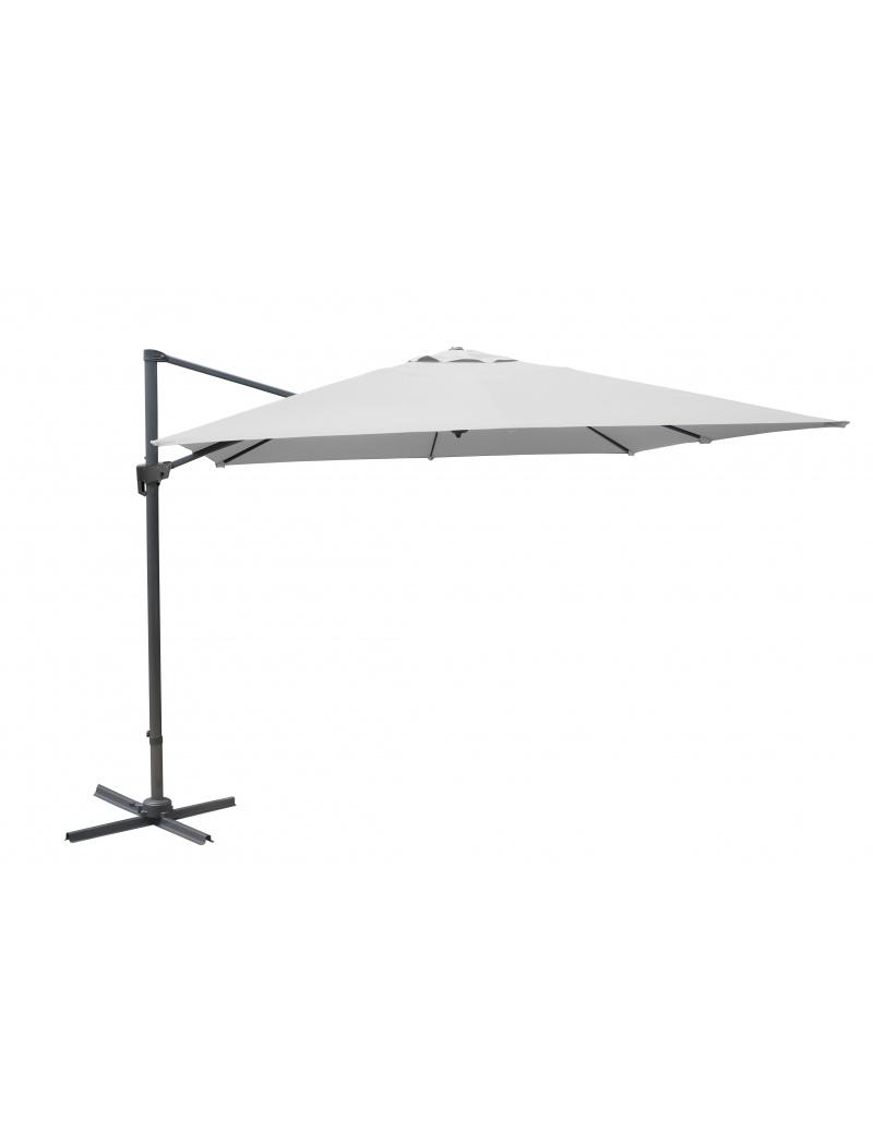 parasol d port proloisirs 3x4 blanc inclinable