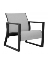 Fauteuil Lounge Quenza Graphite / perle