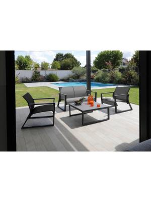 Fauteuil Lounge Quenza Graphite / gris