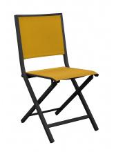 Chaise IDA pliante Graphite / Moutarde