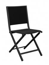 Chaise IDA pliante Graphite / Noir