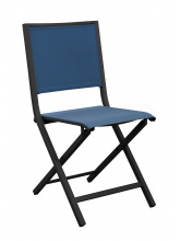 Chaise IDA pliante Graphite / Bleu