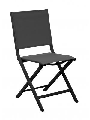 Chaise pliante Thema Graphite / Noir