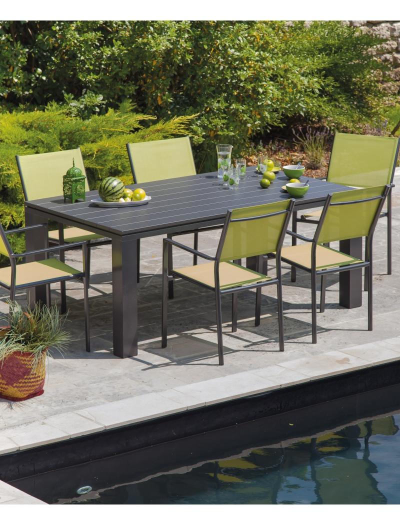 Table Elena 180 Taupe Proloisirs Tables De Jardin En Aluminium  # Table De Jardin Proloisirs Elena