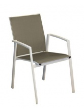 Fauteuil Palma Blanc / Taupe