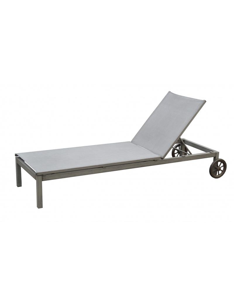 lit bain de soleil thema brush ice argent avec roues. Black Bedroom Furniture Sets. Home Design Ideas
