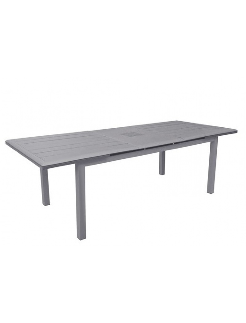 Table Louisiane Brush avec allonge Gris Ice Proloisirs - Tables de ...