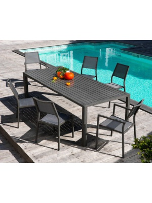 Table Milano 220 Gris Ice