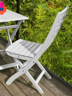 Chaise de jardin pliante Balcon blanc