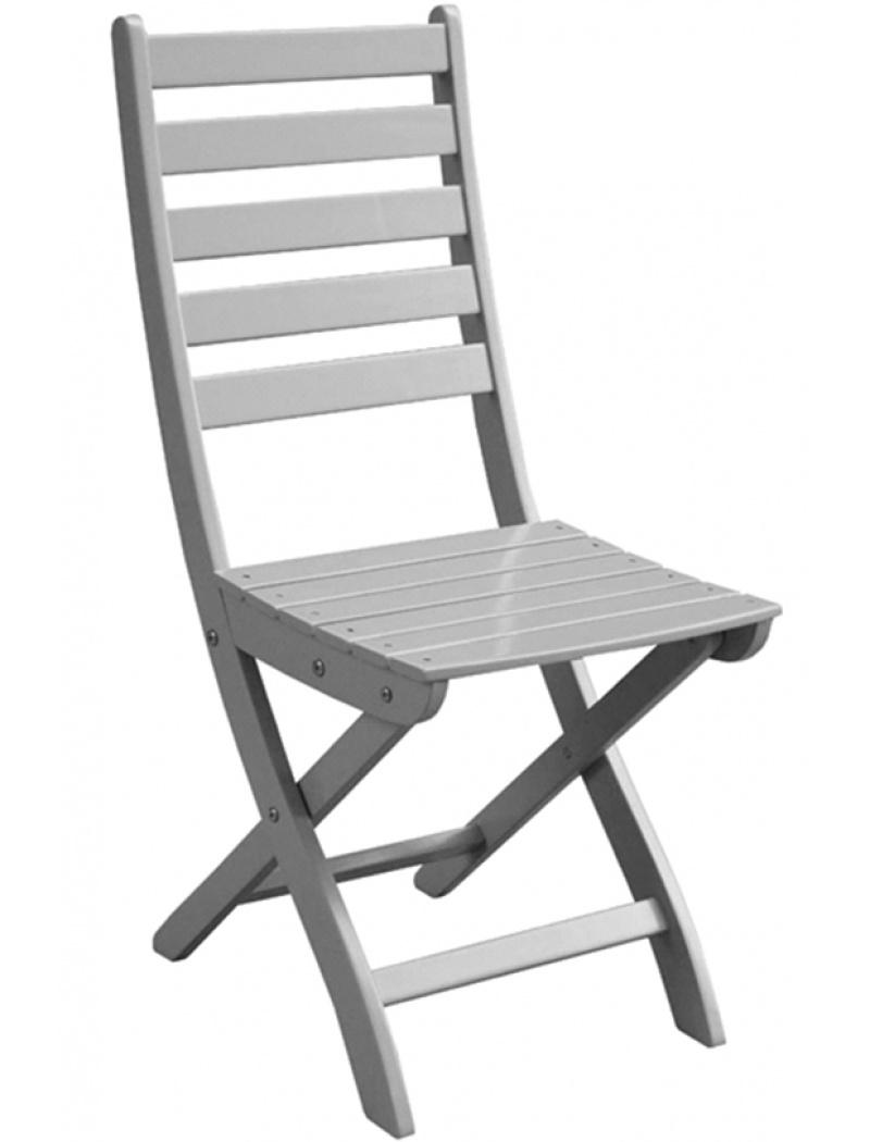 Chaise de jardin pliante Balcon gris