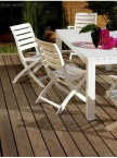 Chaise de jardin Océane coloris blanc