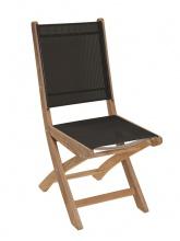 Chaise en teck Newton coloris Noir