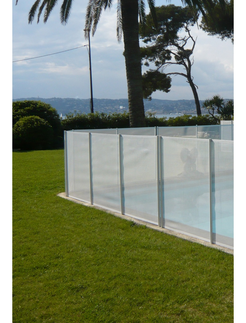 Clôture piscine souple Beethoven filet blanc Section 6m