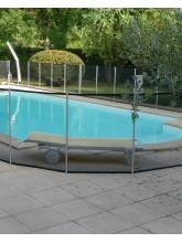 Clôture piscine souple Beethoven filet noir