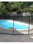Clôture piscine souple Beethoven filet noir prestige