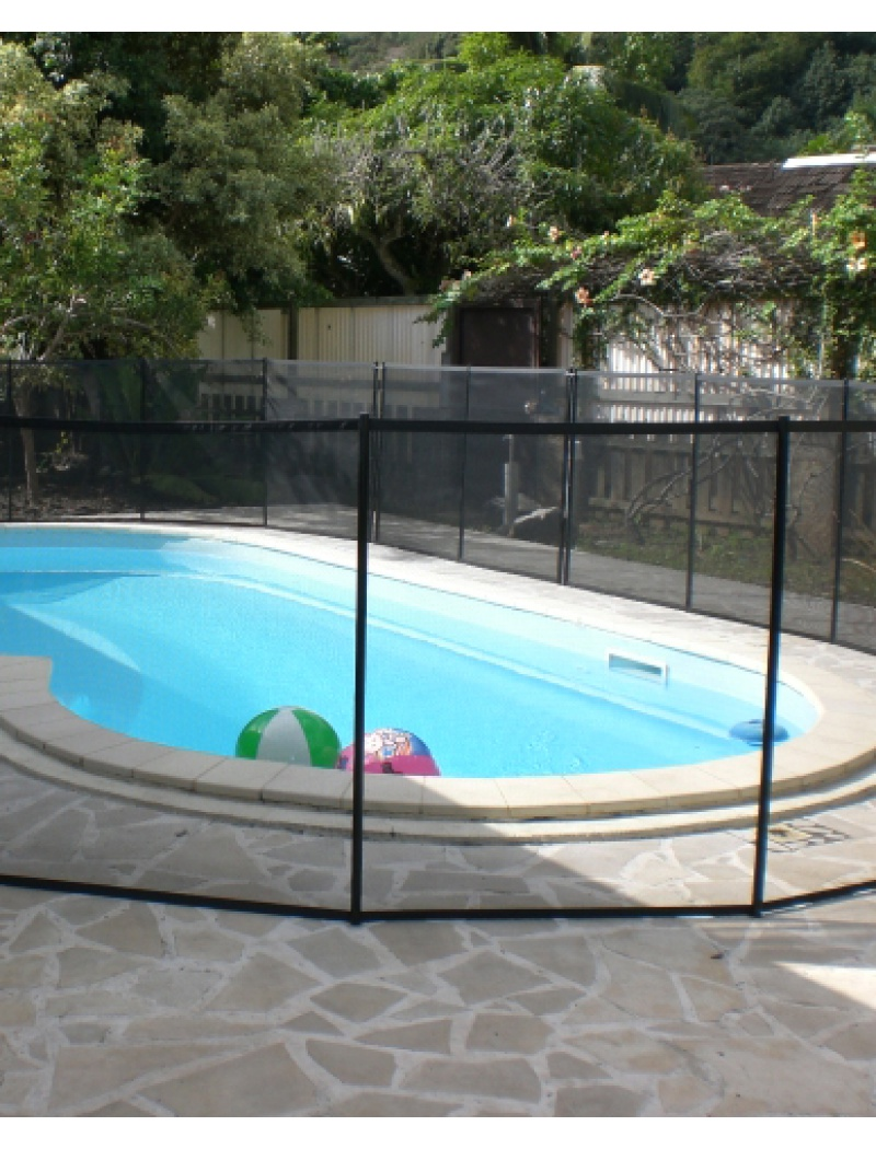 Piscine securite enfant barriere souple beethoven noir for Piscine barriere