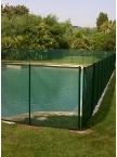 Clôture piscine souple Beethoven filet vert
