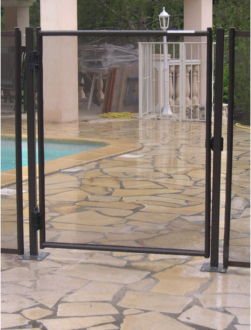 Portillon automatique easy pour cl ture souple d montable for Piscine demontable