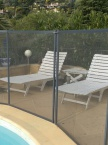 Clôture piscine souple Beethoven filet Gris Anthracite