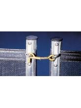 Loquet complet pour clôture souple démontable