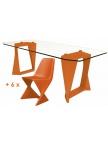 Salon de jardin Iso - Orange