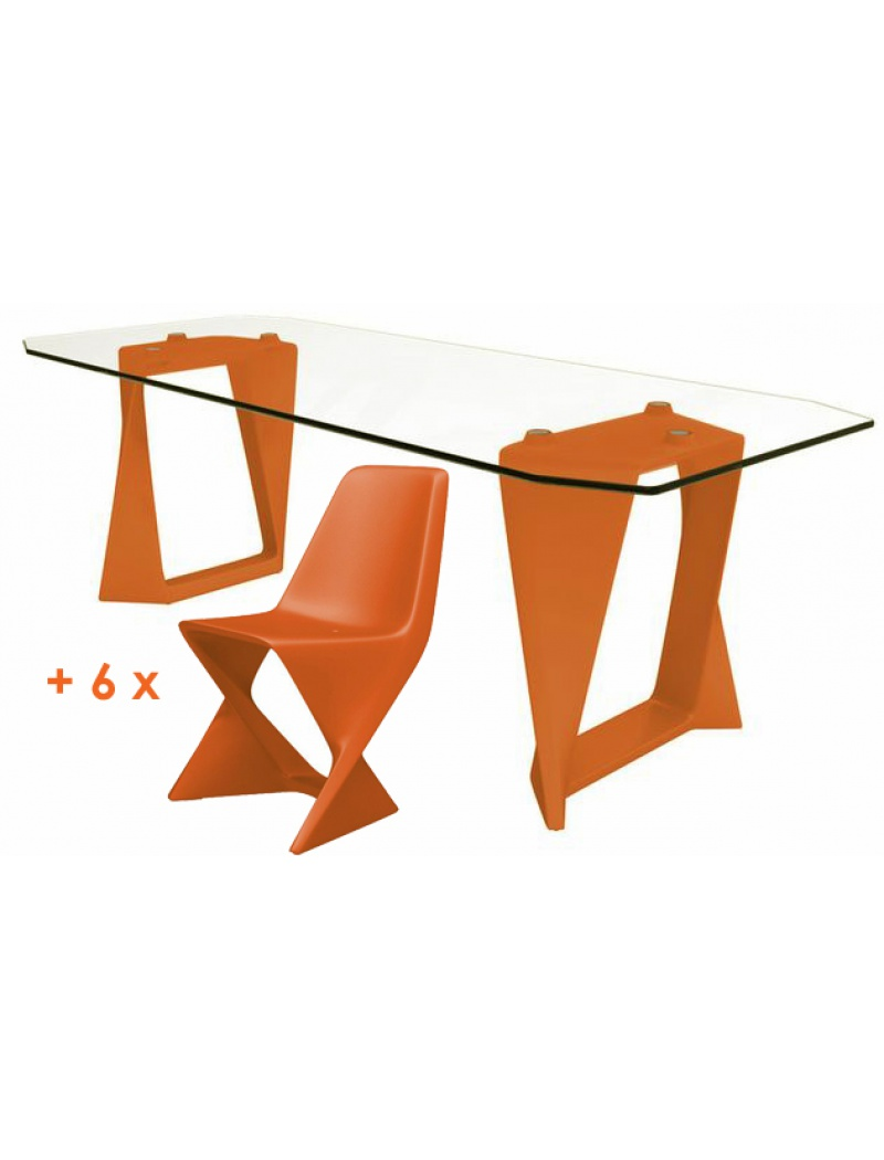 Salon de jardin Iso - Orange Qui Est Paul ? - Tables de jardin en ...