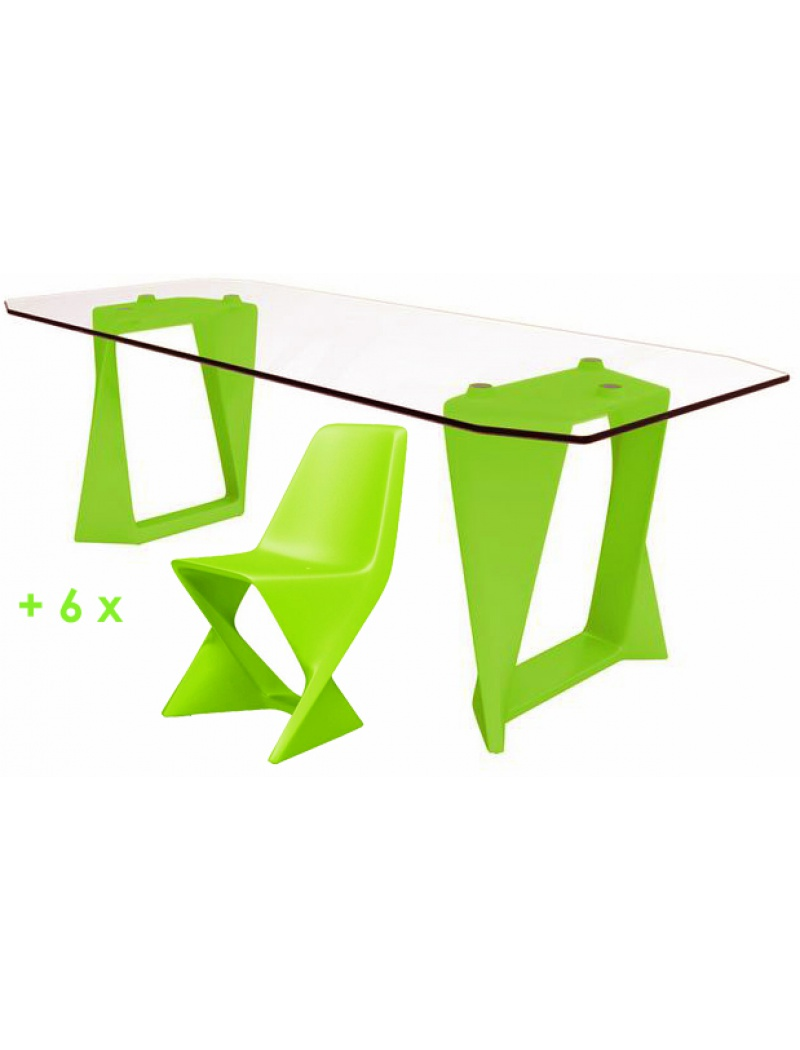 Salon de jardin Iso - Vert