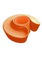 Banc rond Sardana - Orange