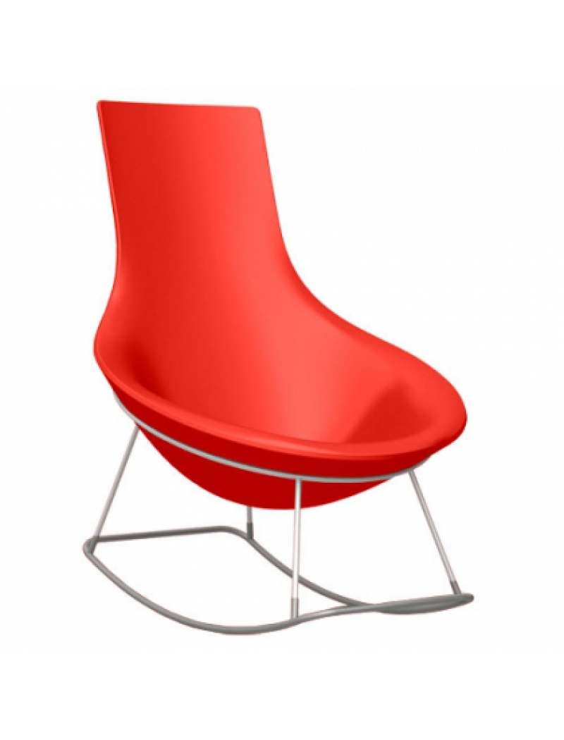 Rocking chair tom yam rouge qui est paul fauteuils - Rocking chair confortable ...